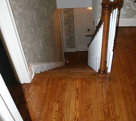 We Followed Up By Sanding The Top Steps And Refinished At The Same Time As  The