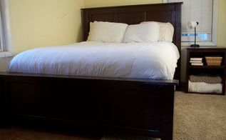 diy headboard pottery barn inspired hudson queen bed, bedroom ideas, diy, woodworking projects