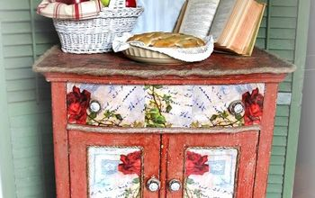"""Chippy, Rustic, Primitive and """"Glam"""" on My Red Washstand...Flashback!"""