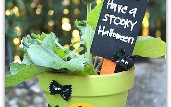 halloween decoration craft bats pasta, crafts, halloween decorations, repurposing upcycling, seasonal holiday decor, Create a fun fall flower pot