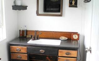 bathroom ideas vintage style remodel, bathroom ideas, home decor, home improvement, repurposing upcycling