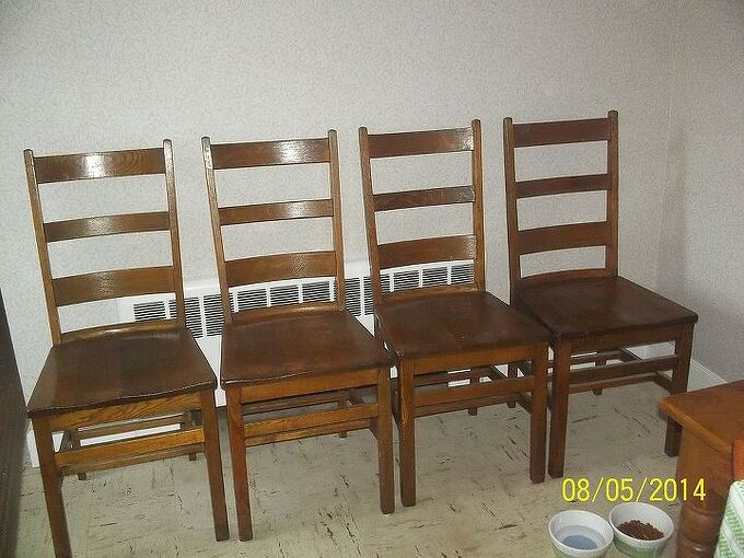 q wood chairs upcycling ideas refinish, painted furniture, repurposing upcycling, woodworking projects