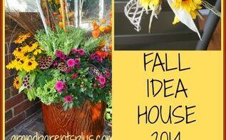 fall decor ideas house tour, container gardening, gardening, seasonal holiday decor