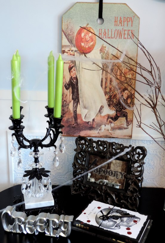 halloween decorations upcycled finds, halloween decorations, repurposing upcycling, seasonal holiday decor