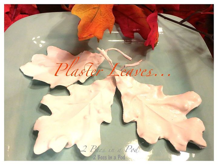 crafts plaster fall leaves tutorial, crafts, seasonal holiday decor