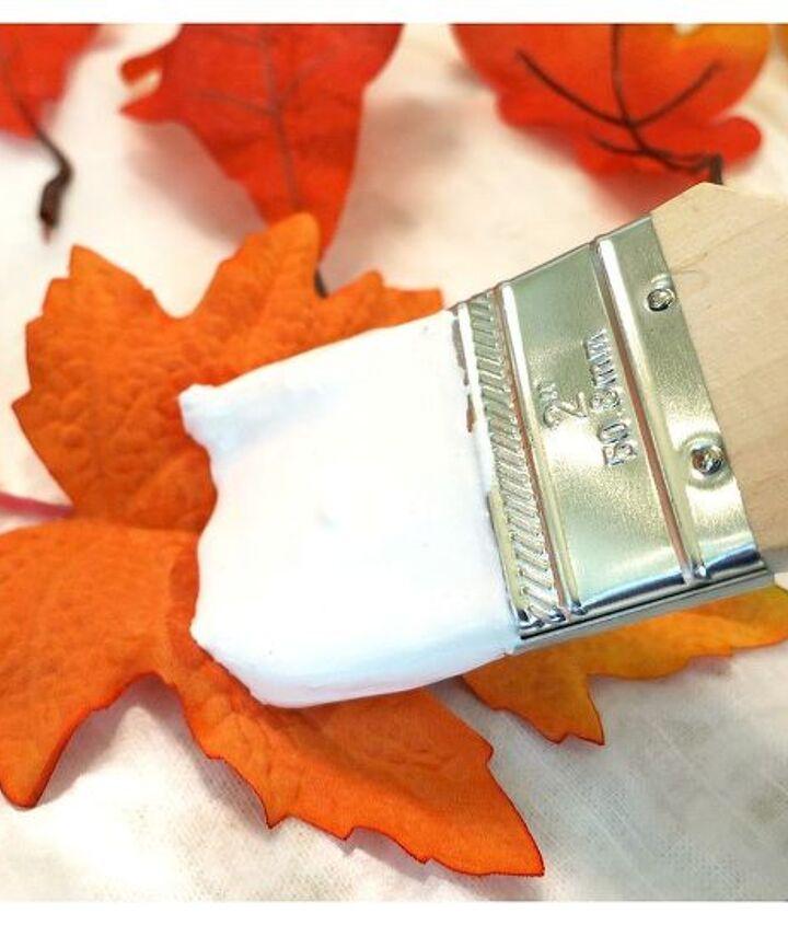crafts plaster fall leaves tutorial, crafts, seasonal holiday decor