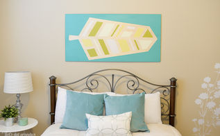 giant painted feather wall art tutorial, bedroom ideas, crafts, painting, wall decor
