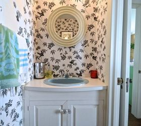 Small Bright Bathroom Ideas Part - 44: Small Bathroom Makeover Wallpaper Fun Bright, Bathroom Ideas, Countertops,  Diy, Flooring,