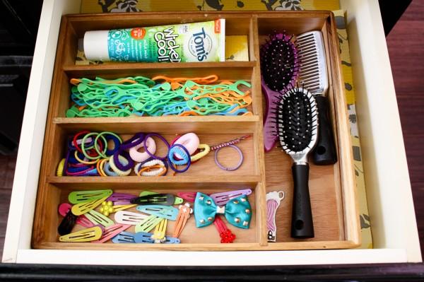 organizing bathroom drawer silverwear tray repurpose, bathroom ideas, organizing