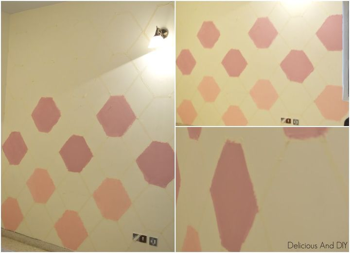 Pastel Painted Hexagon Feature Wall | Hometalk