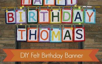 craft felt birthday banner, crafts