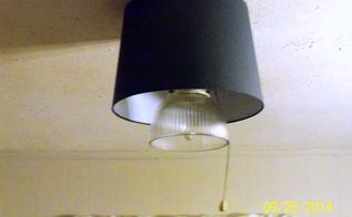 ceiling fan lampshade project, diy, hvac, lighting, wall decor