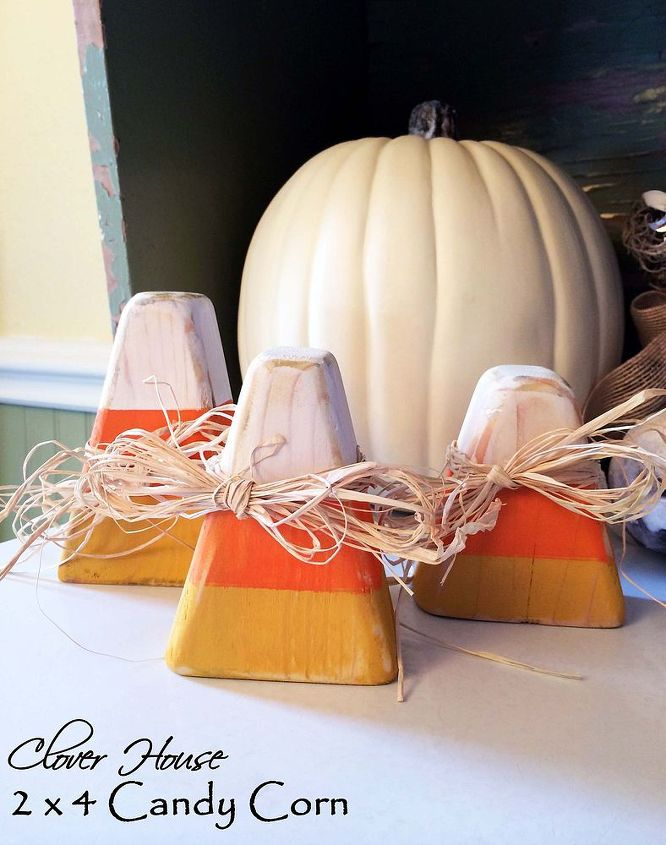 woodworking candy corn decor planks, crafts, halloween decorations, painting, seasonal holiday decor, woodworking projects