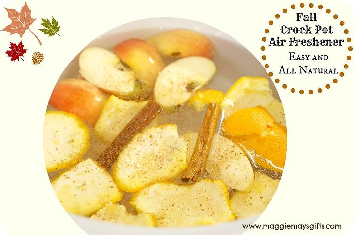 natural crock pot air freshener, home decor
