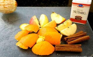 natural crock pot air freshener, home decor