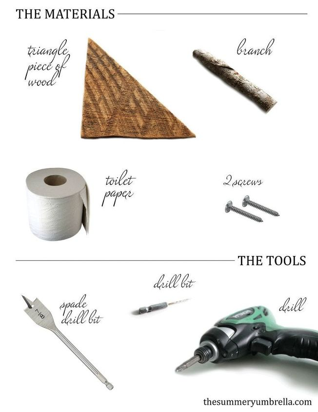 toilet paper holder wood branch rustic, bathroom ideas, diy, how to, repurposing upcycling, woodworking projects
