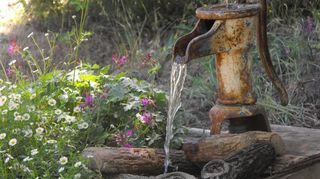 fountains in the garden, outdoor living, ponds water features