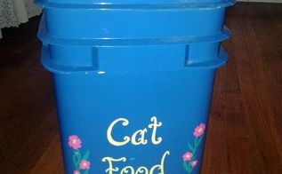 repurposed cat litter container, pets animals, repurposing upcycling