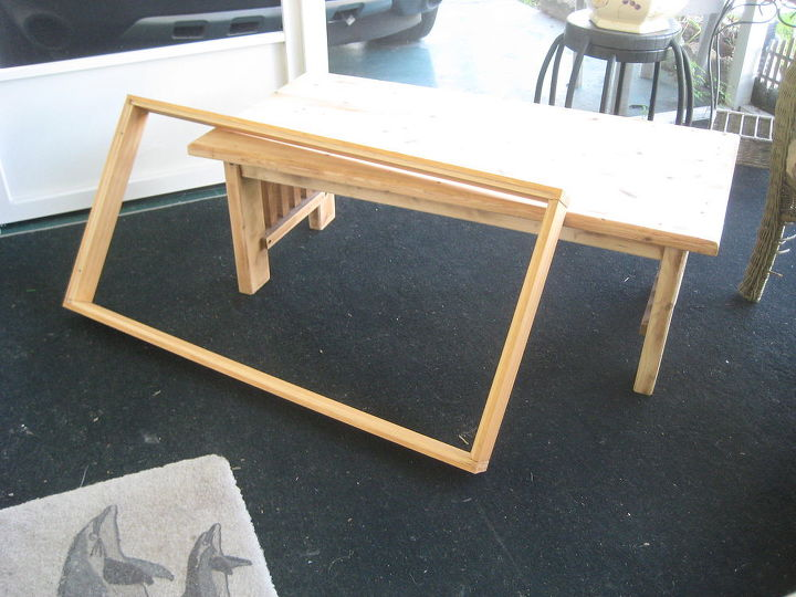 Shadow Box Coffee Table Painted Furniture Repurposing Upcycling Storage Ideas