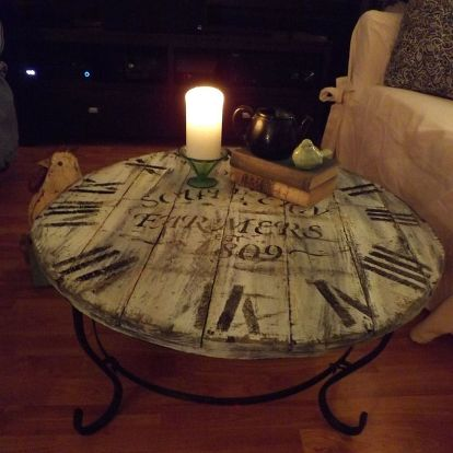 A Wood Pallet Crafted Clock Coffee Table Hometalk