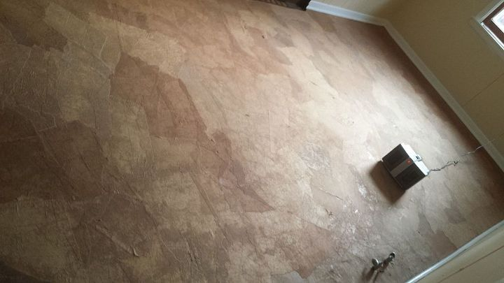 blog worthy results without a blog my version of the paper bag floor, diy, flooring, repurposing upcycling