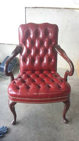 hometalk painting leather chair, painted furniture, This is my chair It is in perfect condition