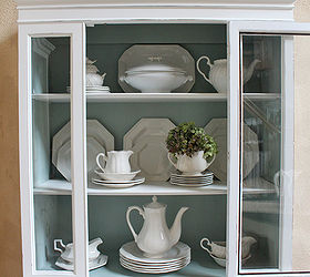 Shabby Chic Painted White China Cabinet | Hometalk