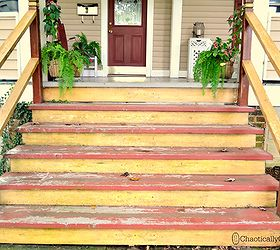 Front Porch Stairs Paint Stencil Redo, Diy, Outdoor Living, Painting,  Porches