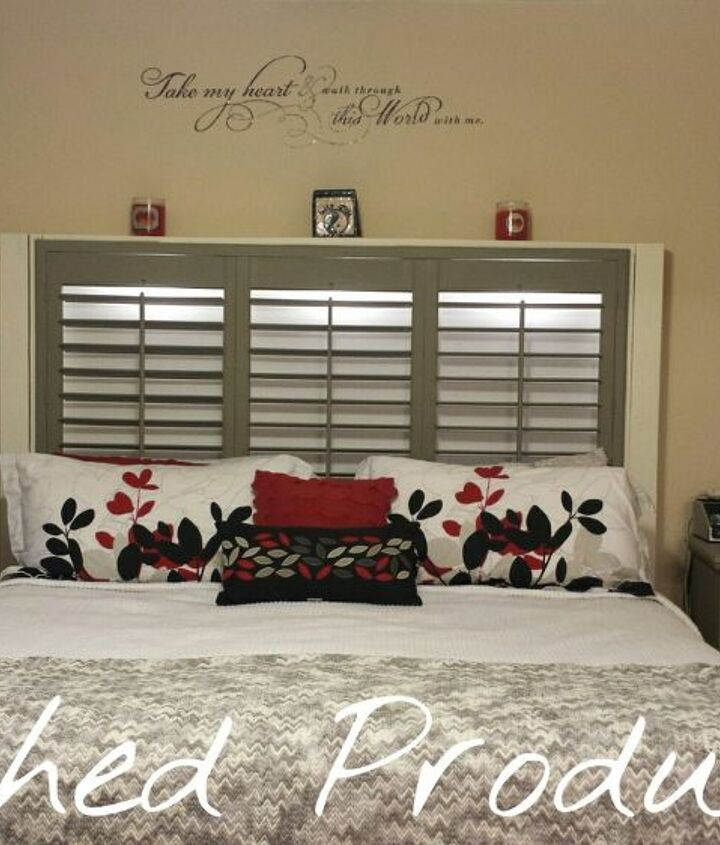 diy headboard shutters upcycle, bedroom ideas, diy, repurposing upcycling, woodworking projects