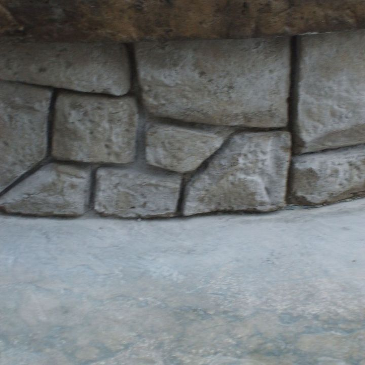 concrete fire pit with vertical carved stonework, concrete masonry, outdoor living