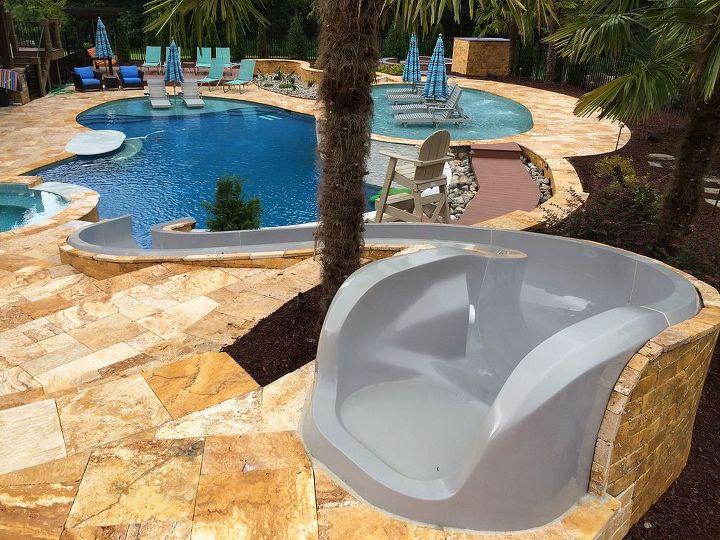 pool water slide custom model ps38l c, home maintenance repairs, ponds water  features, - Pool Water Slide Custom Model PS38L-C Hometalk