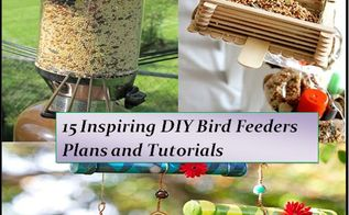 15 inspiring diy bird feeder plans and ideas, crafts, outdoor living, pets animals