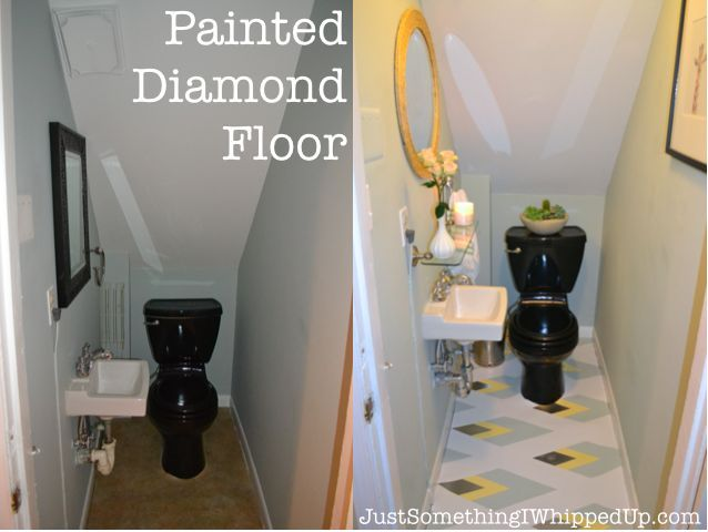 painted linoleum bathroom floor hometalk. Black Bedroom Furniture Sets. Home Design Ideas