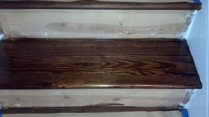refinishing the stairs step by step, stairs