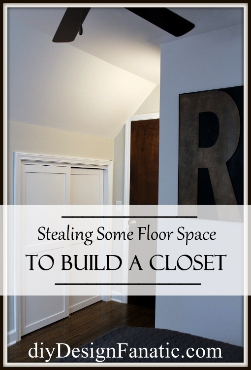 stealing unused floor space to build a closet, bedroom ideas, closet, diy, woodworking projects