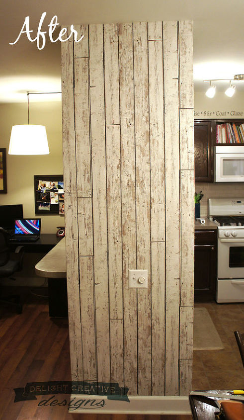 Wallpaper Accent Wall Faux Wood Plank Home Decor