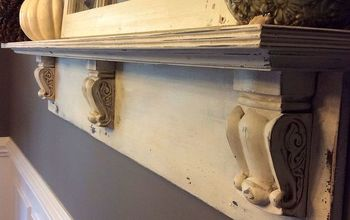 diy mantel shelf, diy, fireplaces mantels, home decor, shelving ideas