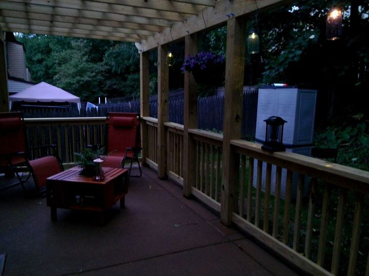 diy pergola patio outdoor living wood, decks, outdoor furniture, outdoor living, patio