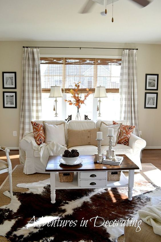 New Fall Home Decorated Great Room Hometalk