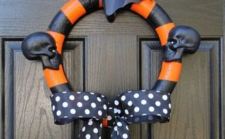 halloween decorations wreath spray painted, crafts, halloween decorations, seasonal holiday decor, wreaths