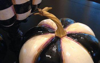 Making MacKenzie-Childs  Look-A-Like Pumpkins