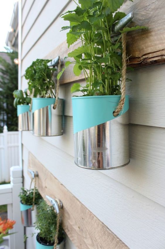 diy paint can herb garden, crafts, gardening, repurposing upcycling