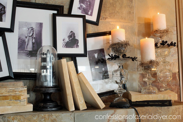 Pottery Barn Inspired Halloween Mantel Hometalk