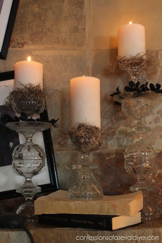 Pottery Barn Inspired Halloween Mantel Hometalk