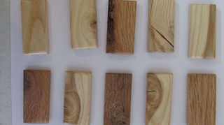 wood canvas from recycled wood shipping pallets which is your fav, painting, pallet, repurposing upcycling, woodworking projects, This is a custom size ordered at 1 x 2 x 1 4 thick to make recycled wood necklace pendants Sanded sealed and ready for art