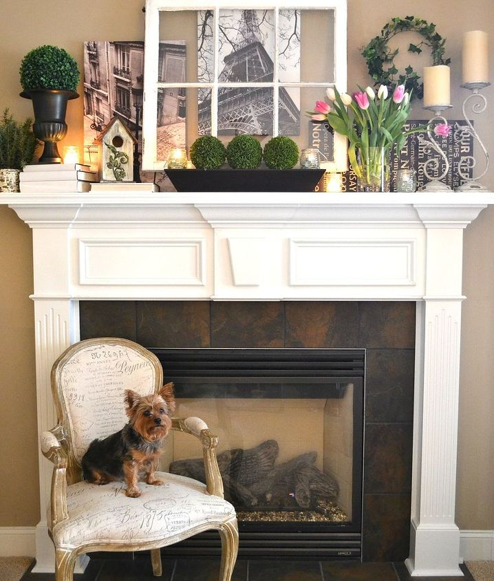 fireplace mantel decor fall front ideas, fireplaces mantels, home decor,  seasonal holiday decor