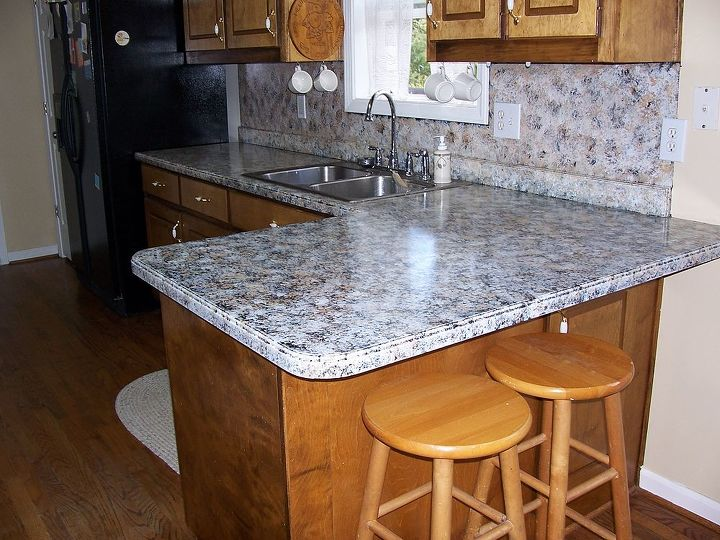 Painting Kitchen Counters With Giani Granite | Hometalk