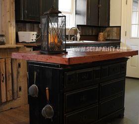 Delightful Pallets Kitchen Island Thrifted Dresser Repurpose Countertop, Chalk Paint,  Countertops, Diy, Kitchen