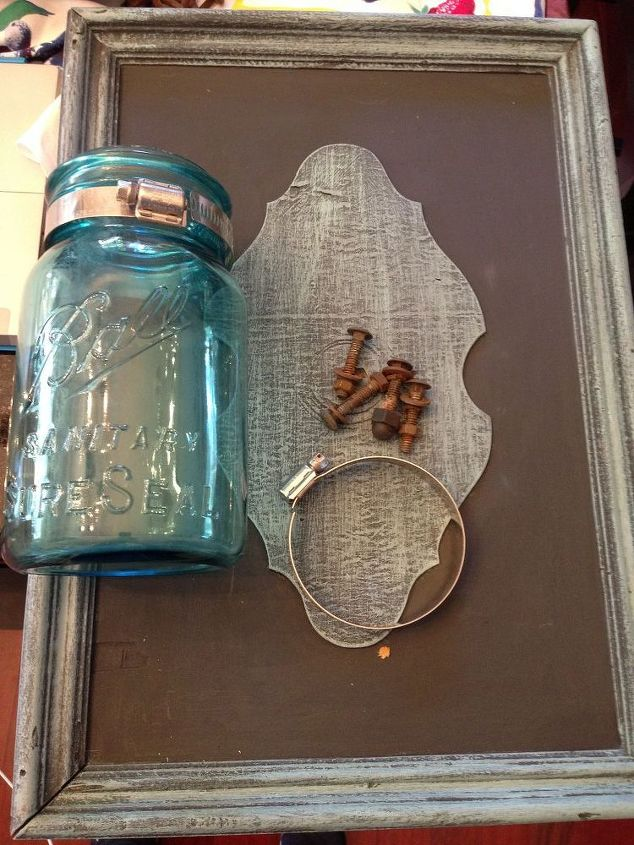 diy vintage mason jar wall sconce from an old drawer, chalk paint, diy, lighting, mason jars, repurposing upcycling