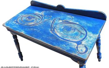 Custom EyeGlass Artwork Carved Table